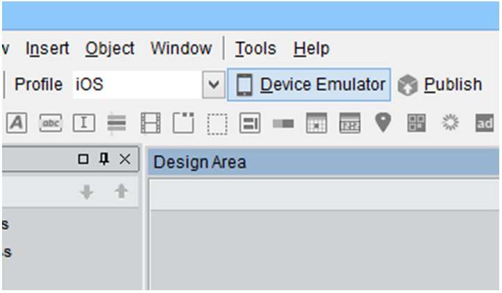 Smartface Android and iOS device emulator button
